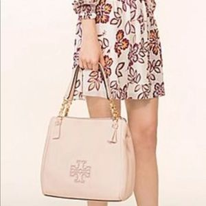 Tory Burch harper tote bag in light oak